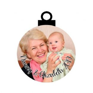 Baby & Nanny/Grandad/Relative Photo Acrylic Christmas Ornament Decoration